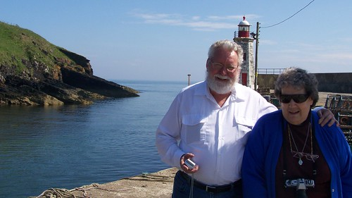 Rev Kevin Cooper and his wife Jenny at Lybster Harbour