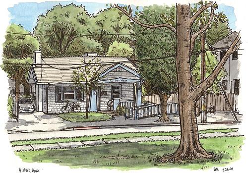 guilbert house on A street, davis