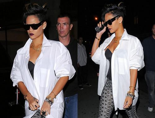 Rihanna in SUPER sunglasses