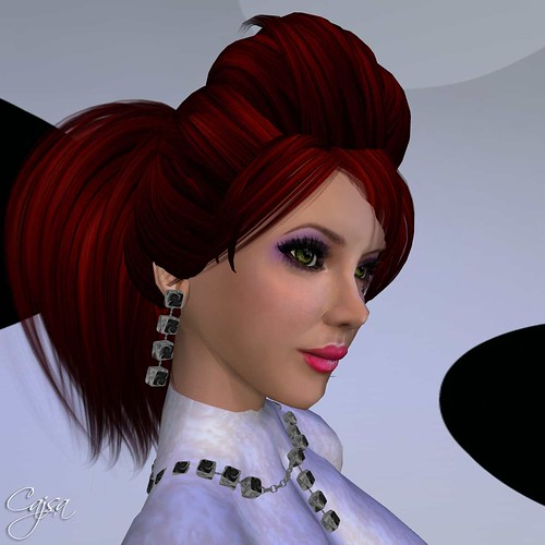 Tuli Faith Skin - the pop makeup for that 60s look. The hair from IrEn - thanks to a lovely post by Uma Ceawin.
