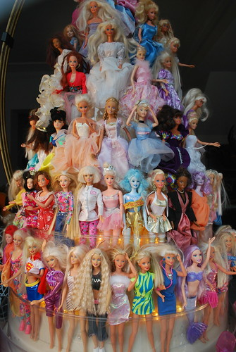 How many Barbies do you see?