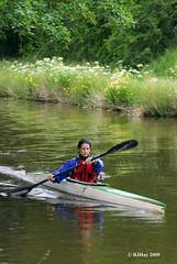 Kayaking on Llangollen Canal, Wales