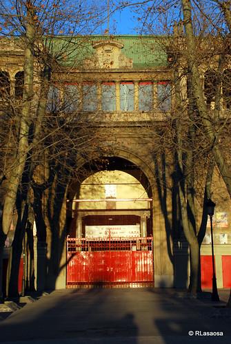 Vista de la entrada principal a la Plaza de Toros