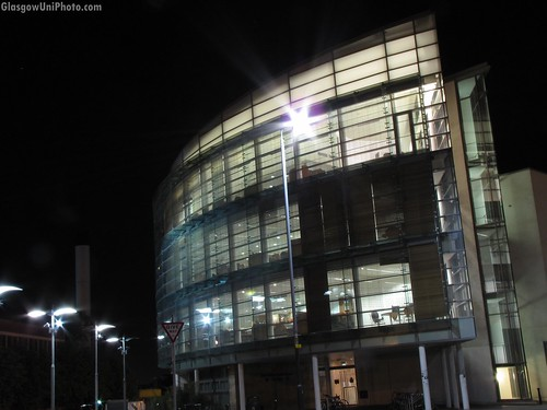 Wolfson Medical School Building at Night