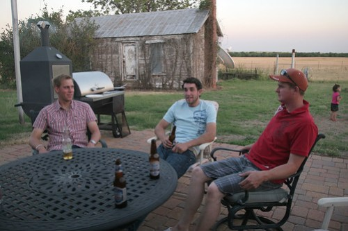 Andreas, Oak and Leon at the Campbell Cookout