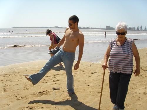 Passejant per la platja d'Essaouira