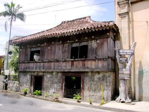The Yap Sandiego ancestral house is considered by many as one of the oldest (if not the oldest) bahay na bato in the country, its located in Mabini (Calle Binacayan) and is less than a block away from the Calle Colon marker. This Parian residence was said to have been built in late 17th century which should explain its distinctive form. It certainly looks unique compared to the other bahay na bato that still exist today. Entrance is P60 and there are interesting artifacts that can be seen inside.