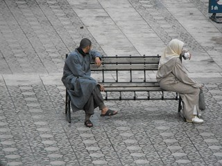 sitting apart together