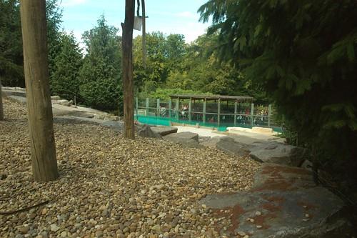 Eisbärenanlage im Zoo d'Amnéville