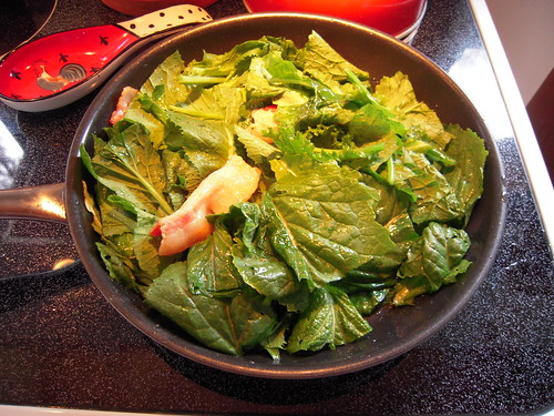 SKILLET OF GREENS AND BACON