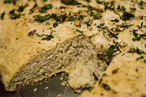 Focaccia bread done