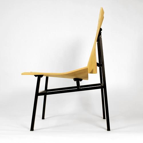 wood chair origami steel weld fold veneer molded