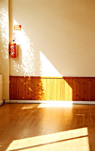 Sun on wood