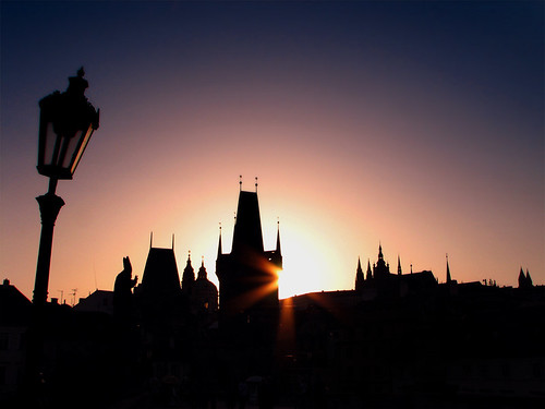 Sunset over Charles Bridge by you.