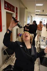 Lorelle VanFossen at WordCamp Dallas - showing off her singing