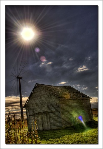 Sun, Wind, and Barn