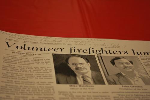 Volunteer firefighters article
