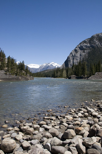 A view of Bow Valley from the side of Bow River