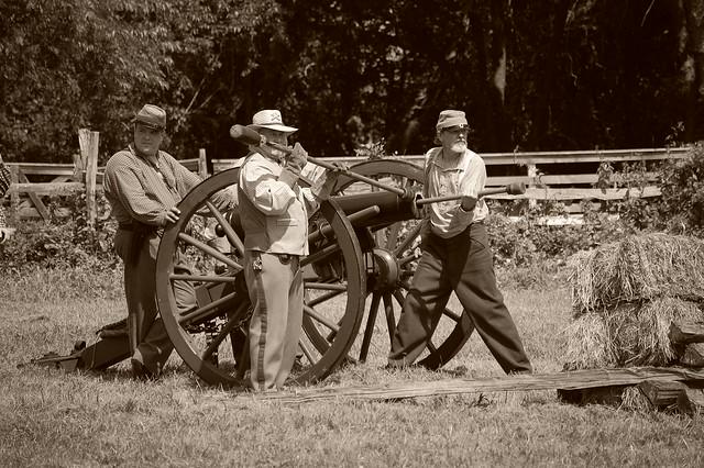 Confederate Cannon Crew
