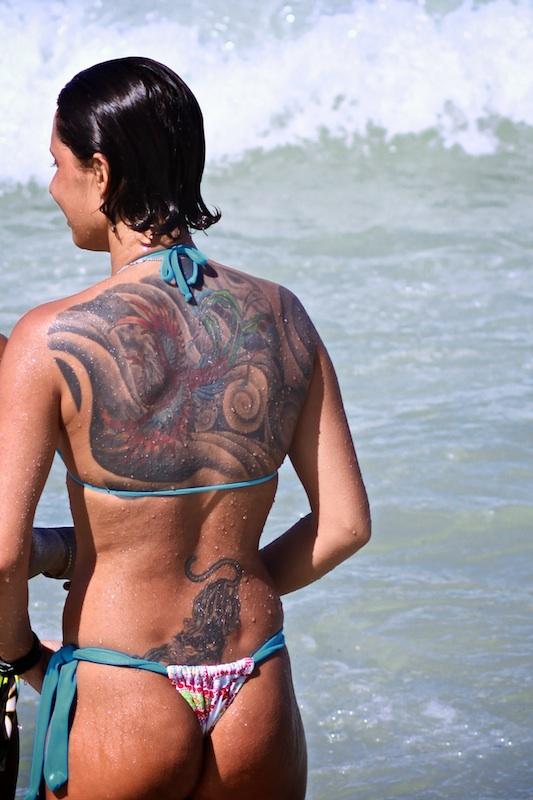 Tattooed Girl at Copacabana
