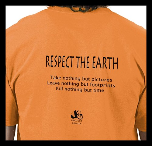 Respect the Earth ©Sandra Miller 2009 , Mens Tshirt Back