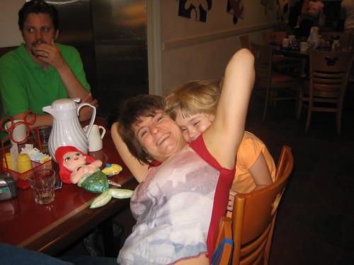 Sophia and me, having fun at Chef Mickeys
