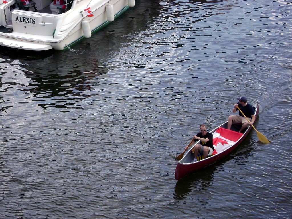 Canoeists on the Canal