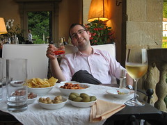 Aaron with a negroni at Fiesole