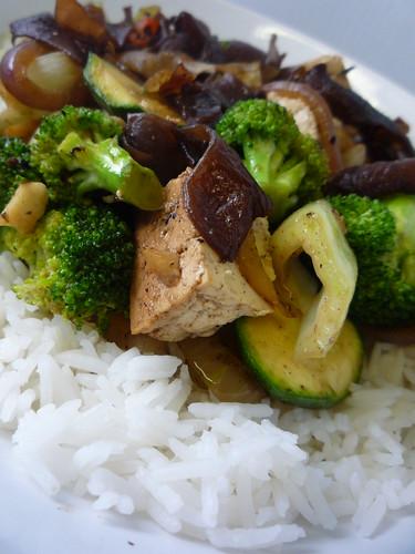 Tofu and Chinese Mushroom Stir Fry by you.