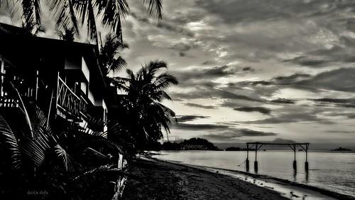 Seaside lodge at Kinarut