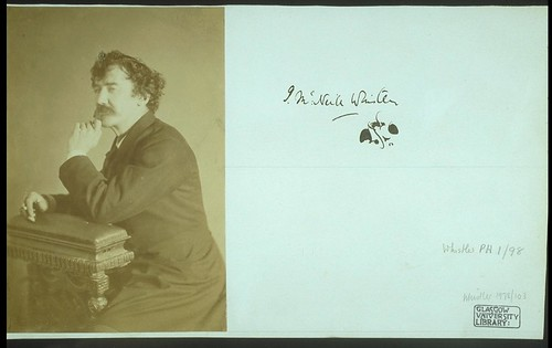 Signed photograph of Whistler