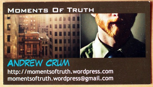Moments Of Truth Biz Card
