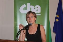 Nieves Ibeas, en la celebración del 23º aniversario de CHA