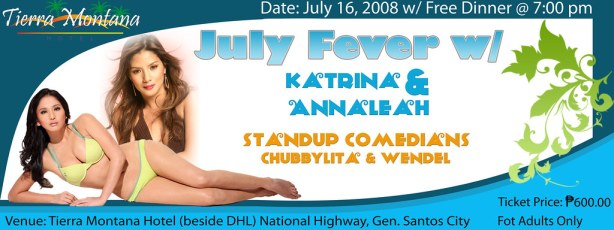 July Fever with Katrina Halili and Anna Leah Javier
