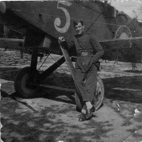 WWI Pilot, Bristol Fighter, RAF Crail, Scotland 1919
