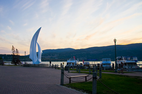 The Waterfront Area in downtown Kelowna