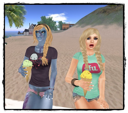 Zombies like ice cream...