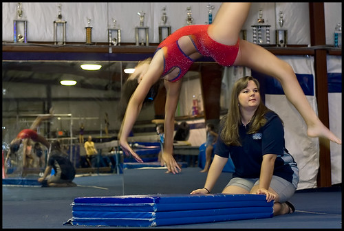 Wendy Savley, an instructor at the Show-Me Gymnastics gym.