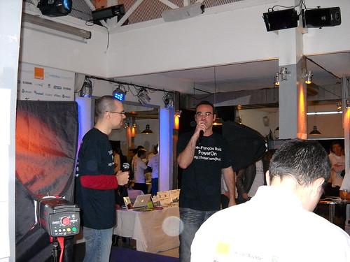 Webdeux.connect 2009 - Jeff et Seb donnent le coup d'envoi