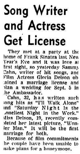 Gloria Bolton and Sammy Cahn 1