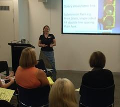 Joanna Penn speaking at a Brisbane public seminar