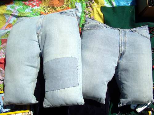 Bad jeans pillows