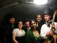 A typical Sunday Driver gig - cakes, suigar mice, people dressed as Victorians, and damn fine music