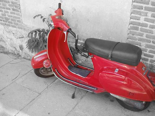 Moto avistada en el centro de Madrid