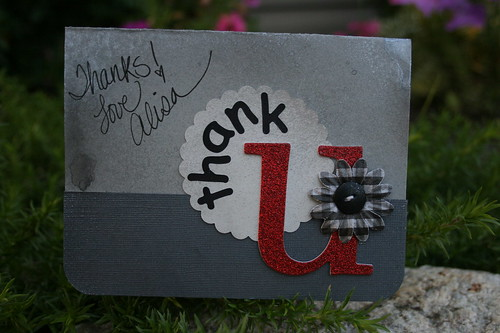 Just imagine my Thank U Card in each of your mail boxes!