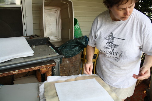 papermaking at Susanne's studio