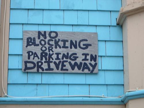 No Blocking Driveway - Part One