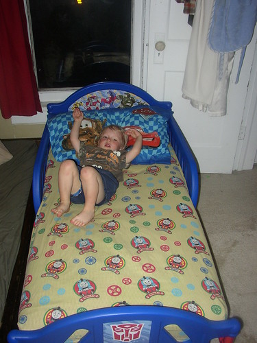 spencer in his new bed!
