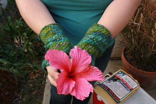 Crocheted Fingerless Mitts