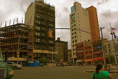 The Chatham Square area under construction. Chinatown is always mid-morph, seems like every 10 years it changes completely